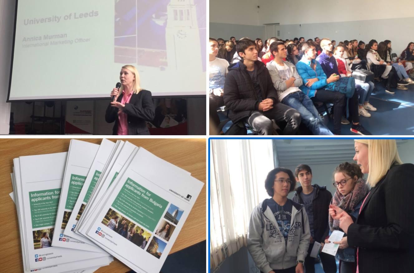 University of Leeds visits Zlatarski International School of Sofia