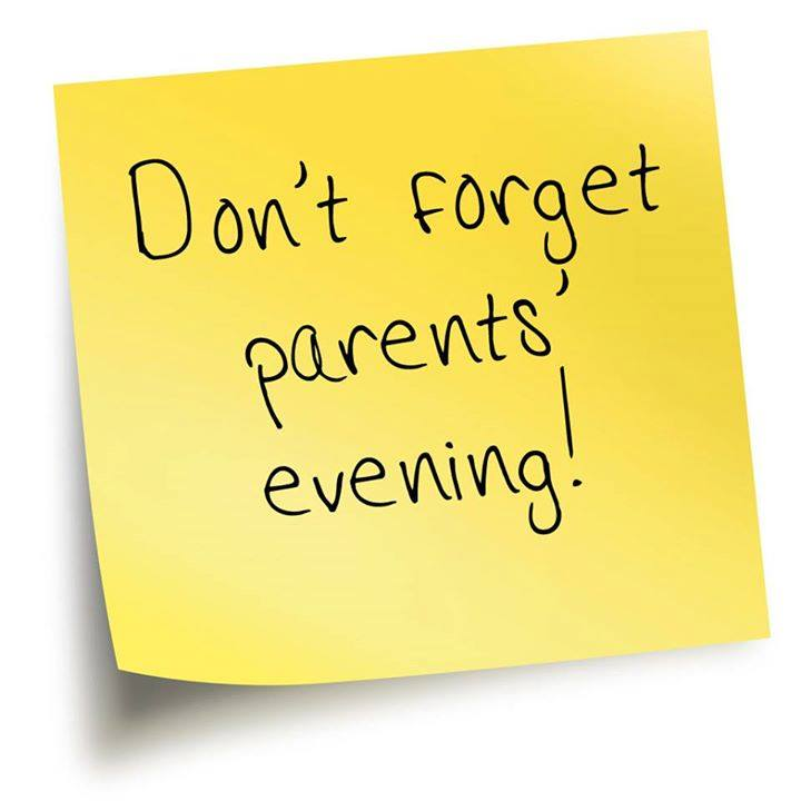 Parents evening: 10 January 2019 (Thursday)